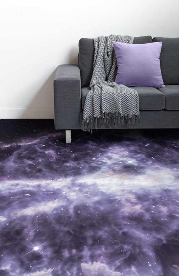 Design-Inspiration Lila wie Weltraum