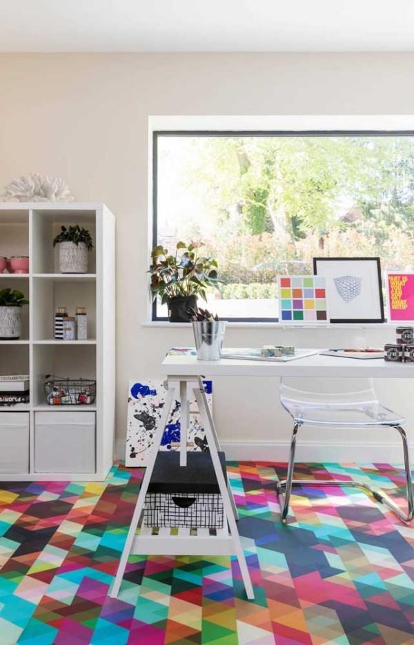 Design-Inspiration - bunte Bodengestaltung