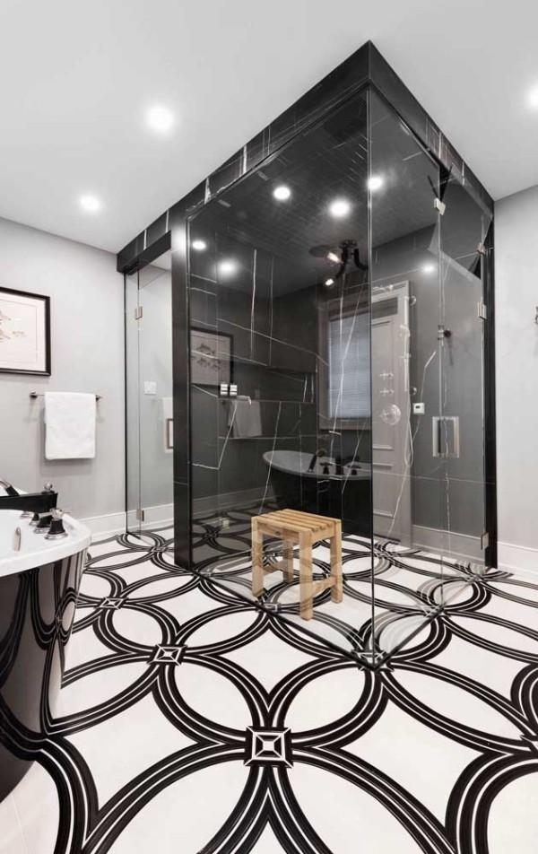 Design-Inspiration mit klassischen Mustern für den Boden