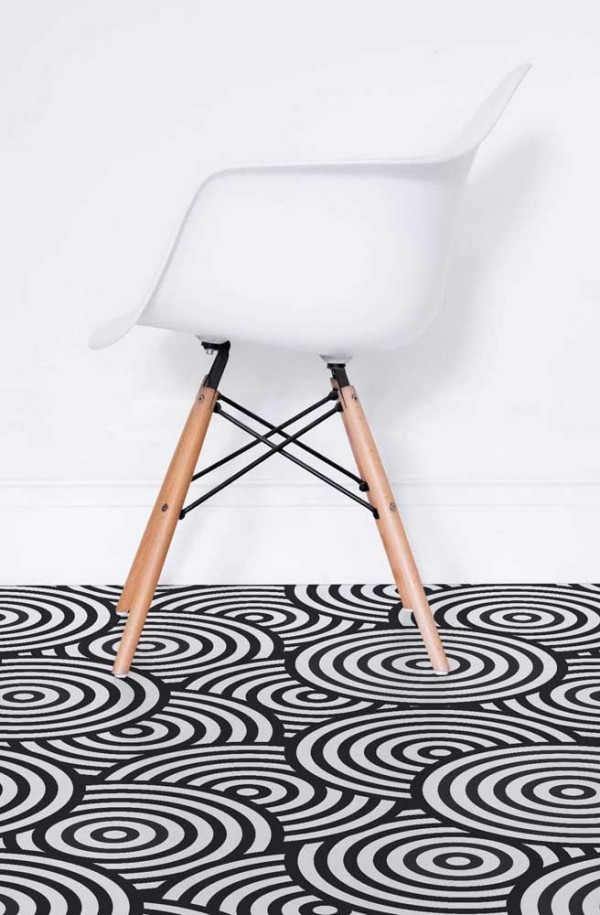 Design-Inspiration - runde schwarz weiße Muster