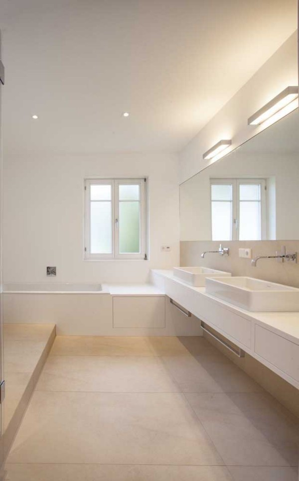 Elfenbein - Bodengestaltung fürs Badezimmer