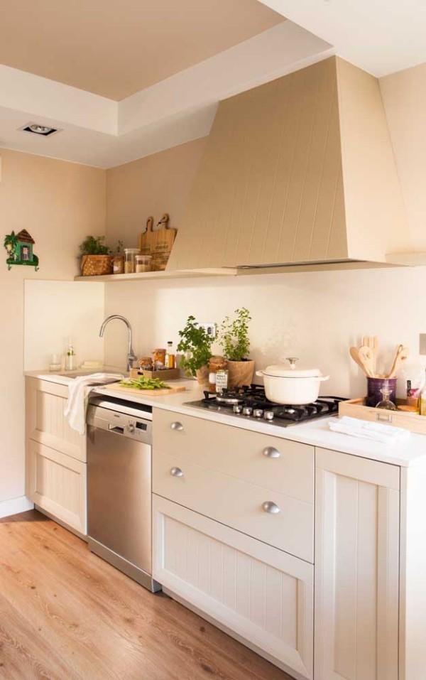 Elfenbein Farbe für das Küchenumfeld