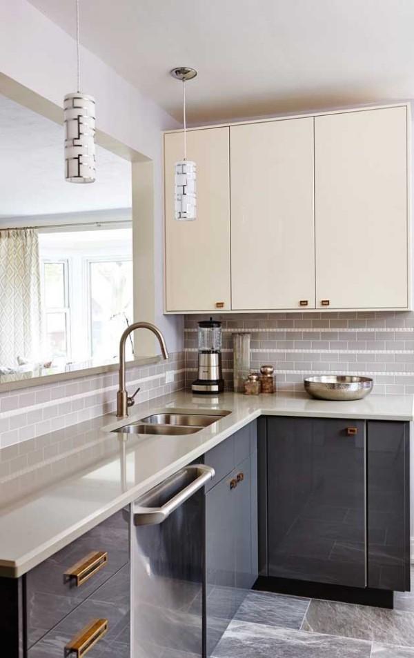 Elfenbein - Farbe für die Küchenschränke