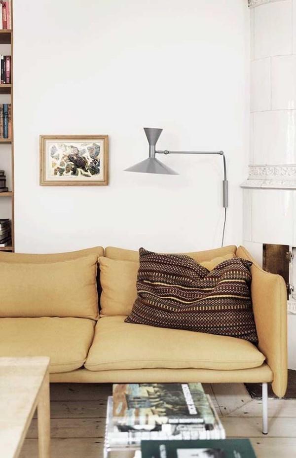 Elfenbein Farbe vom Sofa