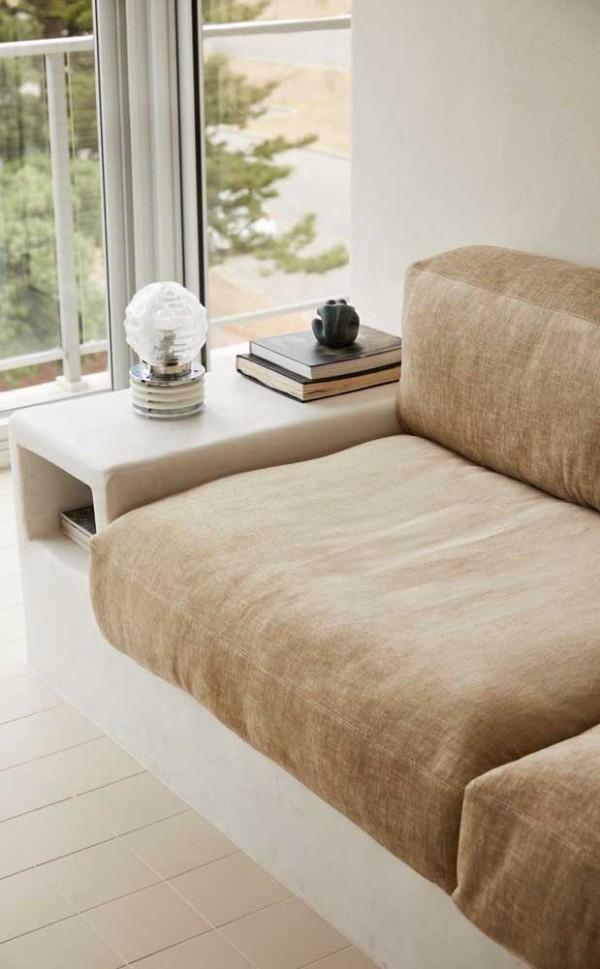 Elfenbein - Sofa für die Wohnzimmergestaltung