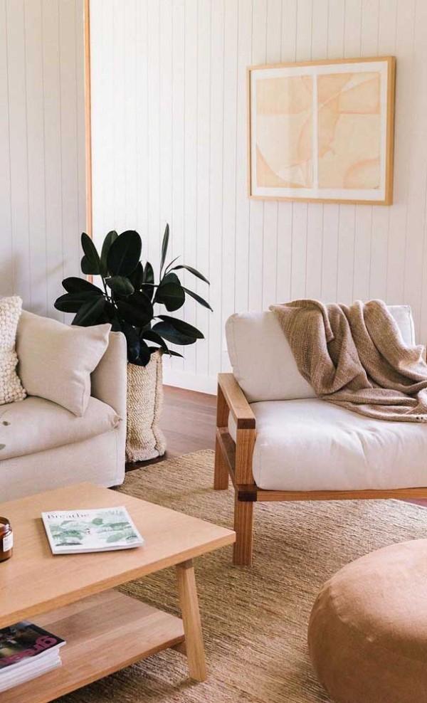 Elfenbein - Teppich und andere Möbel