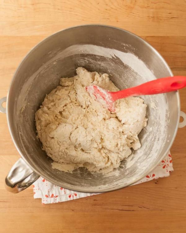 Englische Muffins Rezept englischer Muffin Teig von Hand mischen