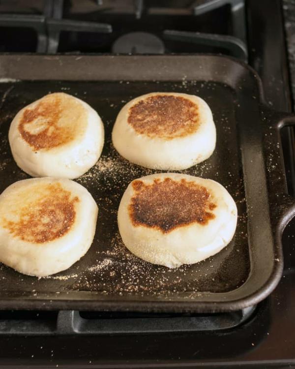 Englische Muffins Rezept englischer Muffin hausgemachte Brötchen