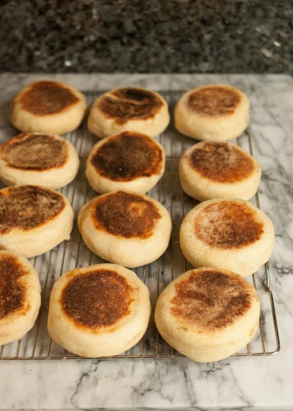 Englische Muffins Rezept englischer Muffin kühlen lassen