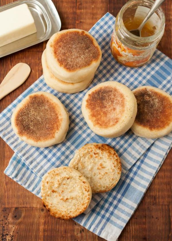 Englische Muffins Rezept englischer Muffin zum Früstück