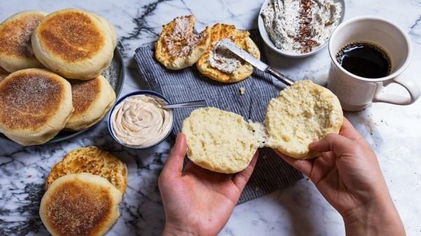 Englische Muffins Rezept gesunde Frühstücksideen