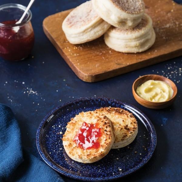 Englische Muffins selber backen Rezept Brötchen