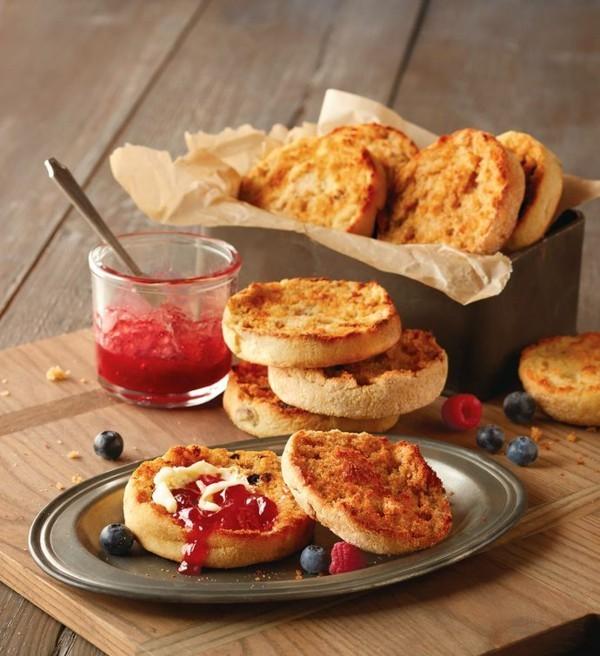 Englische Muffins selber backen Rezept gesunde Frühstücksideen