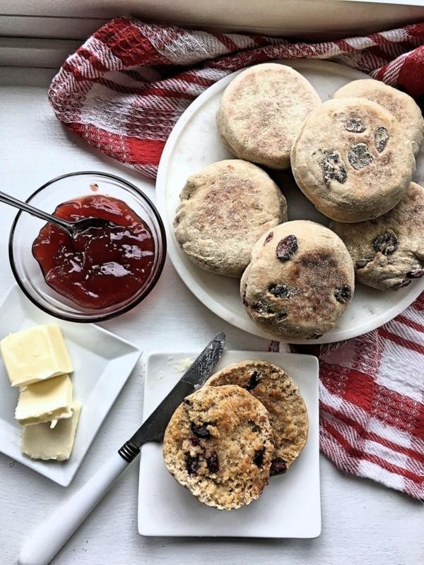 Englische Muffins selber backen Rezept mit Cranberry backen