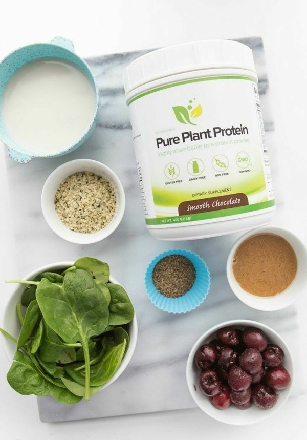 Erbsenprotein Pulver Ernährung vegane Proteine