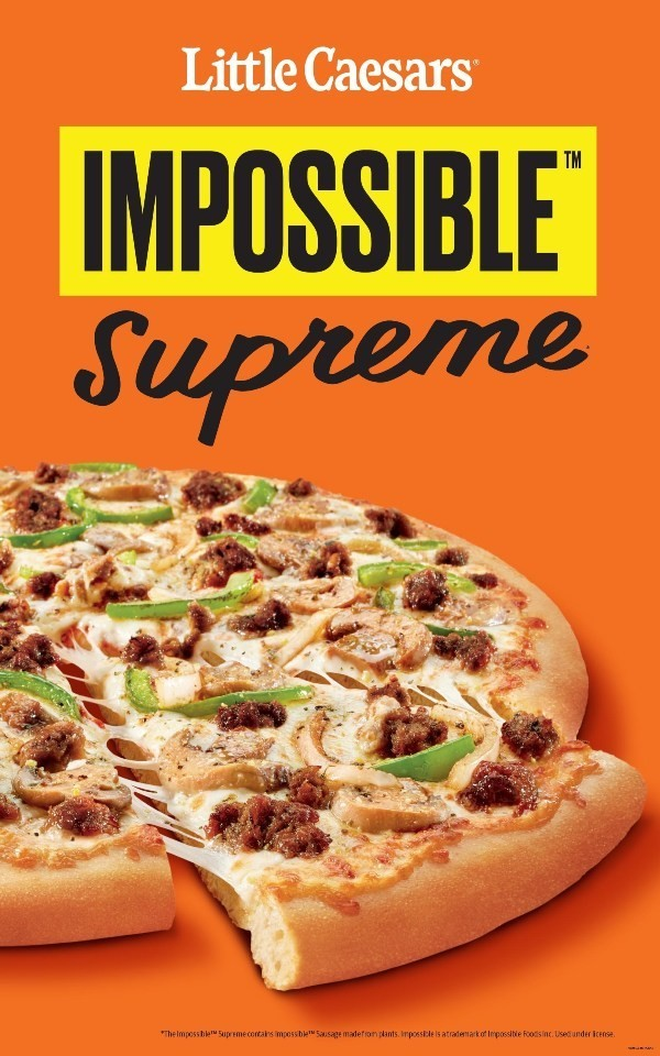 Fischloser Fisch von Impossible Foods in Entwicklung little caesars impossible supreme pizza