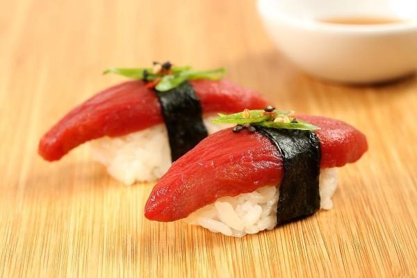 Fischloser Fisch von Impossible Foods in Entwicklung sushi ohne echtem fisch