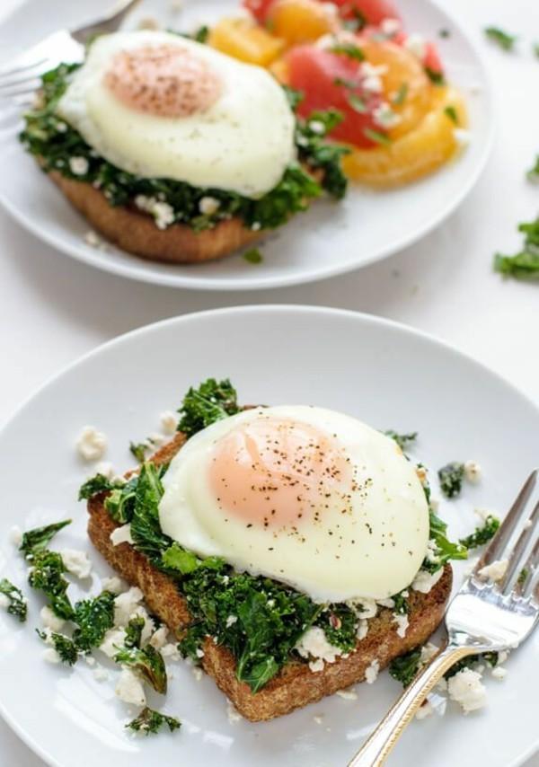 Gesunde Frühstücksideen für Kinder Brötchen Eier