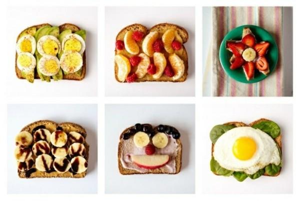 Gesunde Frühstücksideen für Kinder Brötchen belegen