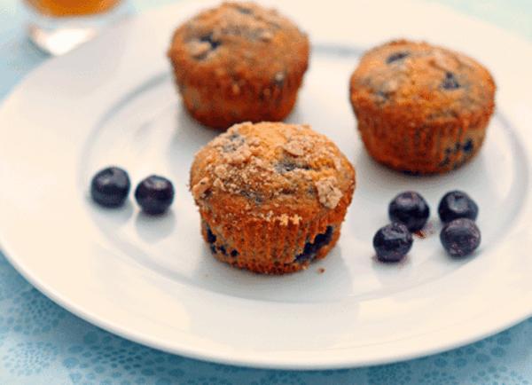 Gesunde Frühstücksideen für Kinder Muffins mit Blaubeeren