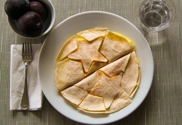 Gesunde Frühstücksideen für Kinder Pfannkuchen Stern