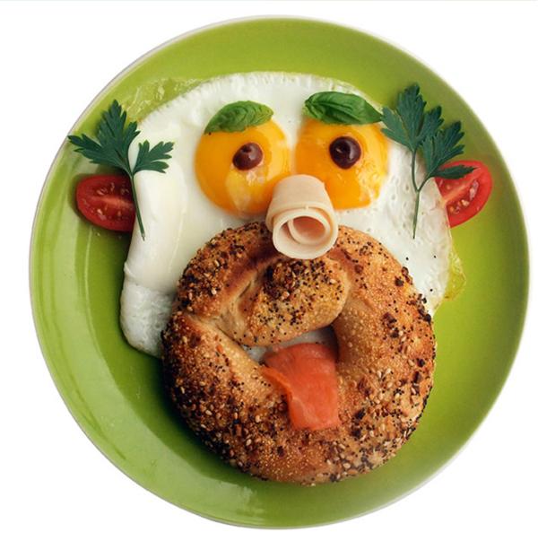 Gesunde Frühstücksideen für Kinder englisches Frühstück Gesicht