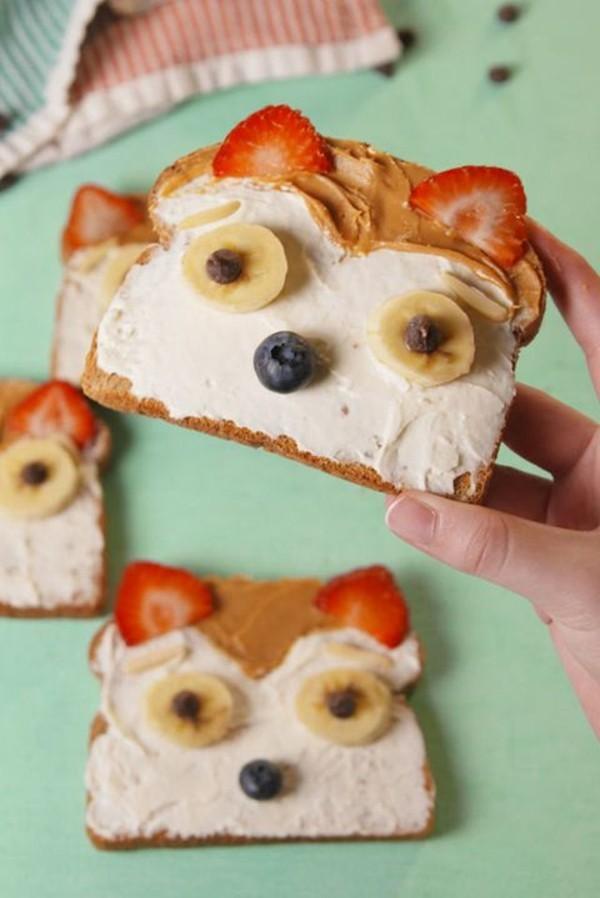 Gesunde Frühstücksideen für Kinder gesundes Brötchen