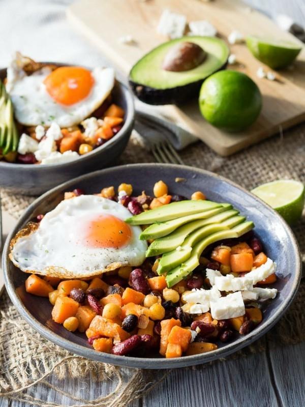 Gesunde Frühstücksideen für Kinder mexikanische Bratpfanne