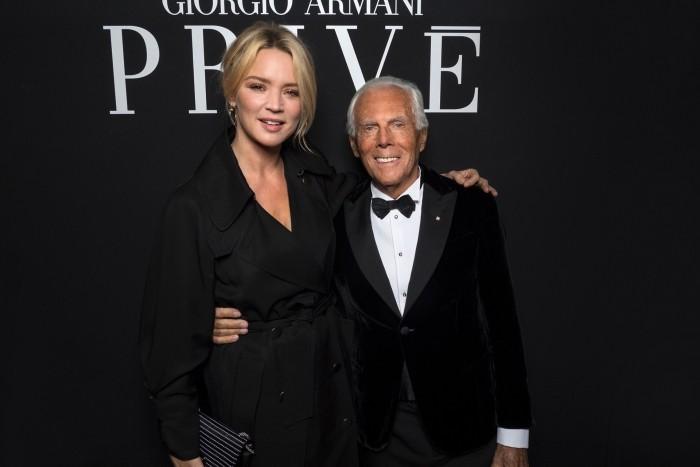 Giorgio Armani Modegott 85 Jahre alt belgische Schauspielerin Virginie Efira