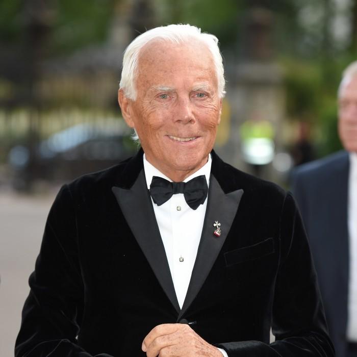 Giorgio Armani weltbekannter Modedesigner herzlichen Glückwunsch zum 85. Geburtstag