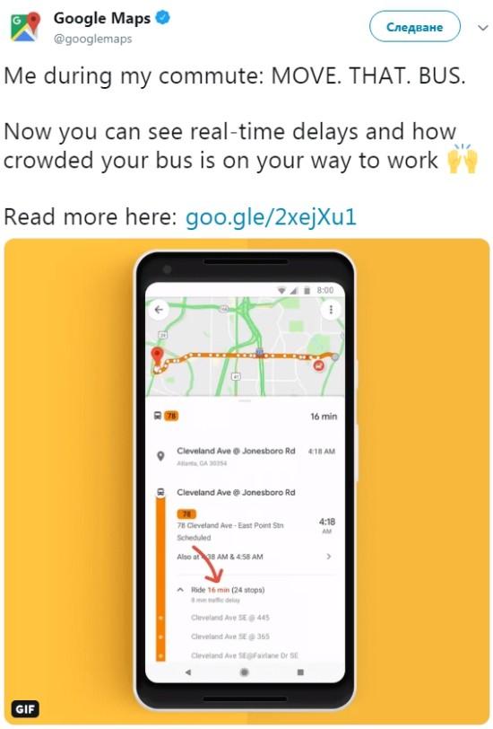 Google Maps kann bestimmen, wie voll Ihr Bus oder Zug sein wird fahrtzeiten und verspätungen anzeigen
