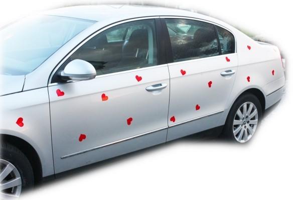 Herz- Muster Autoschmuck Hochzeit