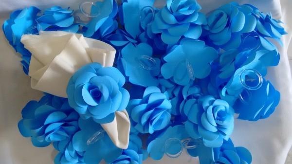 Hochzeitsdeko - blaues Design