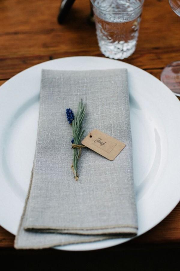 Hochzeitsdeko - blaugraue Idee