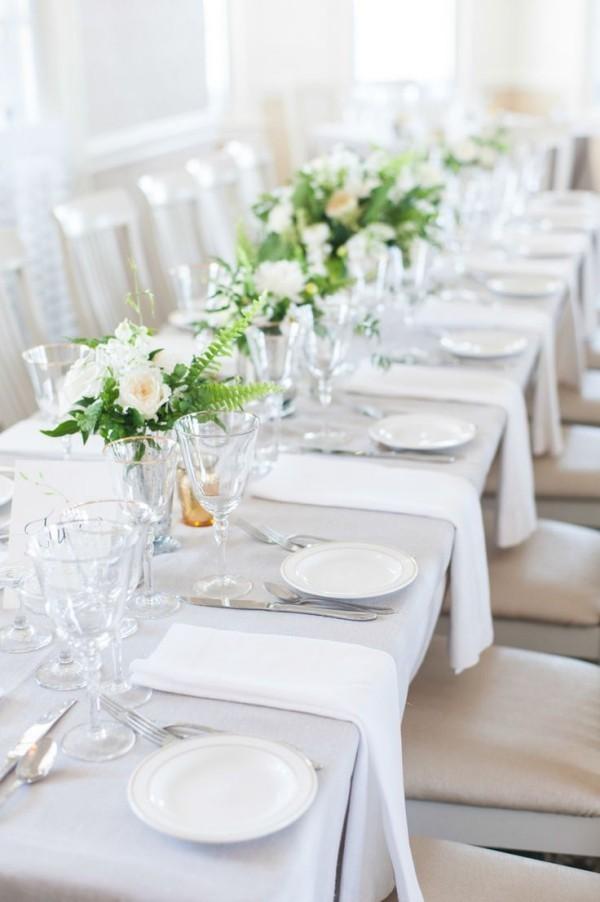 Hochzeitsdeko - grün und weiß
