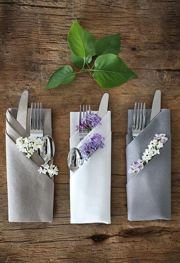 Hochzeitsdeko - tolle Taschen fürs Besteck