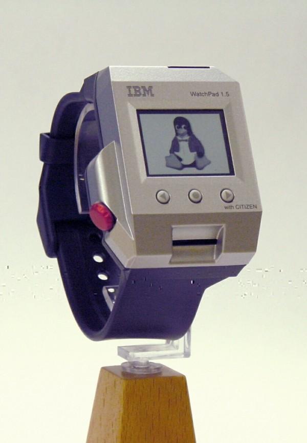 IBM patentiert weltweit erste faltbare Smartwatch altes smartwatch aus 2000