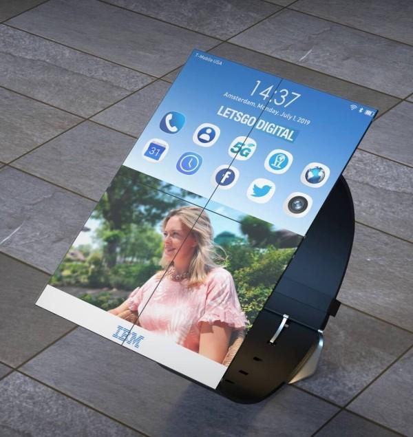 IBM patentiert weltweit erste faltbare Smartwatch faltbar smartphone modus
