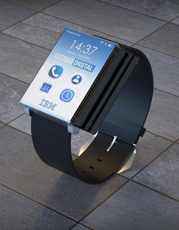 IBM patentiert weltweit erste faltbare Smartwatch smartphone uhr modus