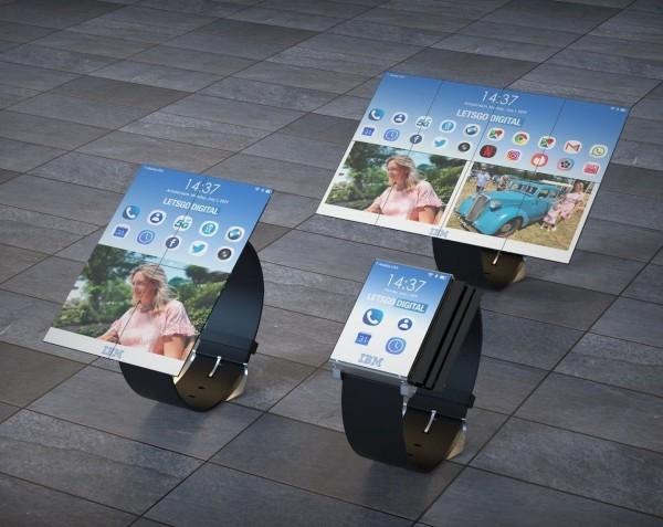 IBM patentiert weltweit erste faltbare Smartwatch von uhr zu handy und tablet