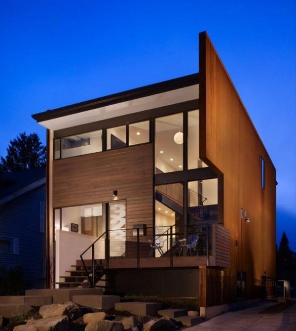 Ideen aus Holz und Metall moderne Häuser