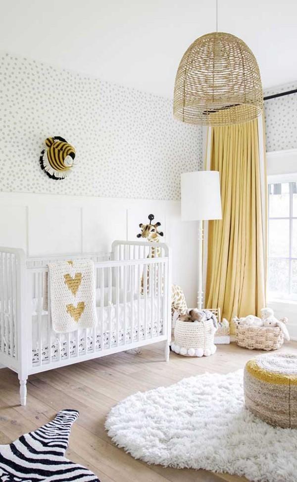 Ideen fürs Babyzimmer in der Farbe Elfenbein