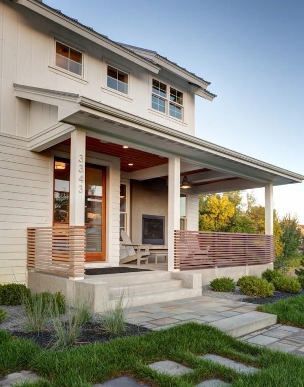 Kleine Veranda - Idee für moderne Häuser
