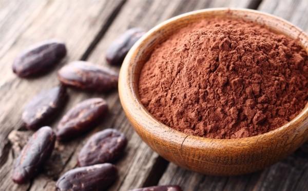 Magnesiumreiche Lebensmittel Kakaopulver ist gesund enthält viel Magnesium