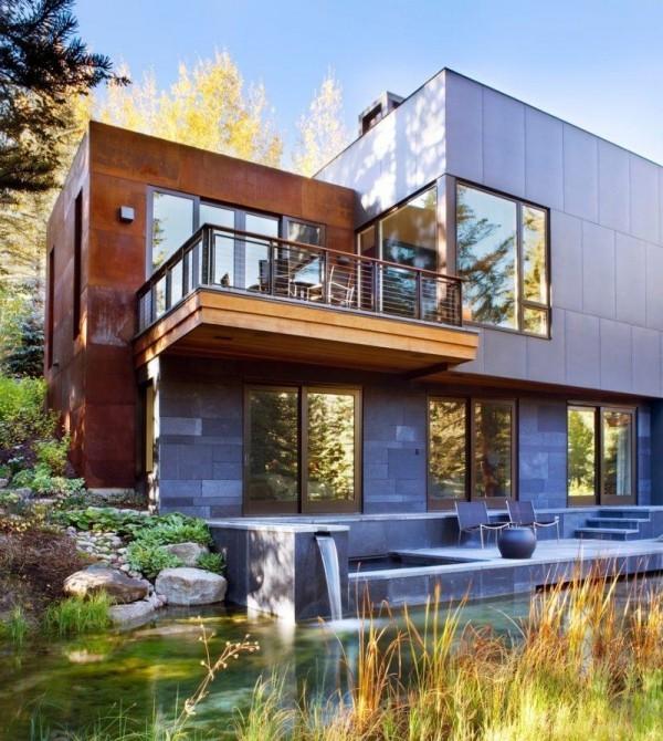 Metall und Holz - moderne Häuser