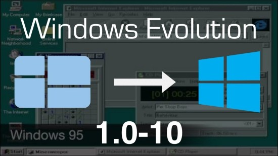 Nach fast 34 Jahren führt Microsoft Windows 1.0 angeblich wieder ein evolution von windows 1.0 zum 10