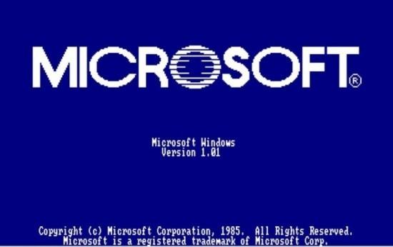 Nach fast 34 Jahren führt Microsoft Windows 1.0 angeblich wieder ein microsoft altes logo blau weiß