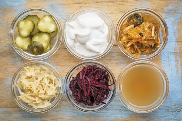 Nahrungsmittel probiotische Lebensmittel fermentiert
