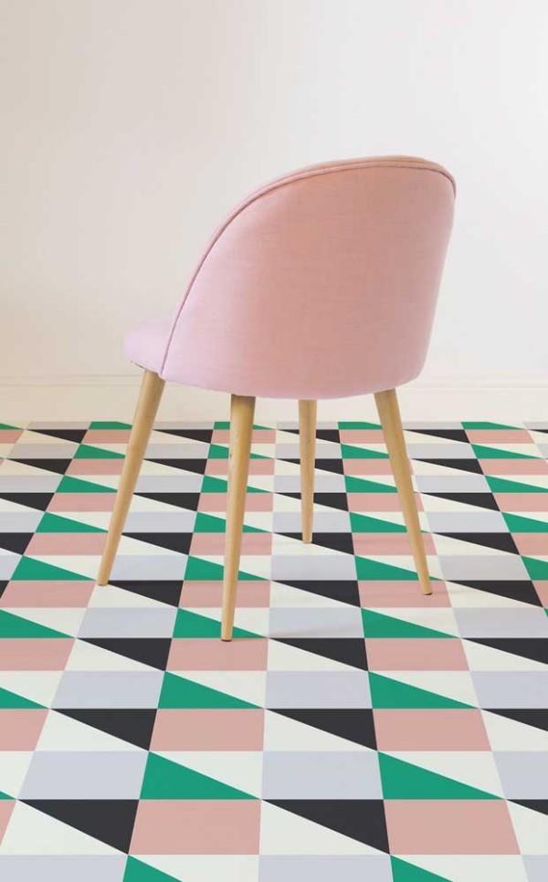 Rosa, Schwaru und Grün - Design-Inspiration