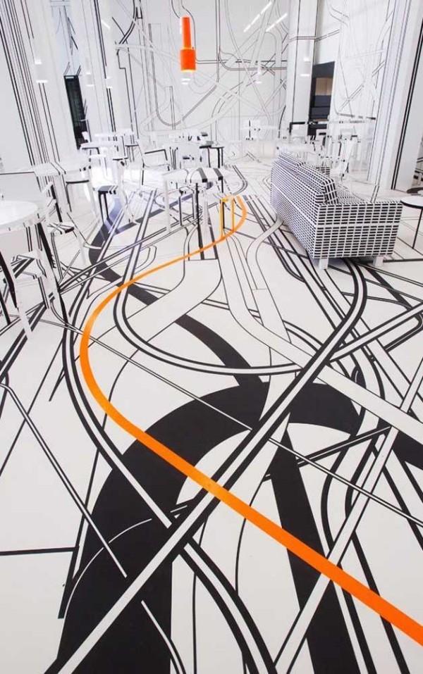 Schwarze und orangene Muster - Design-Inspiration